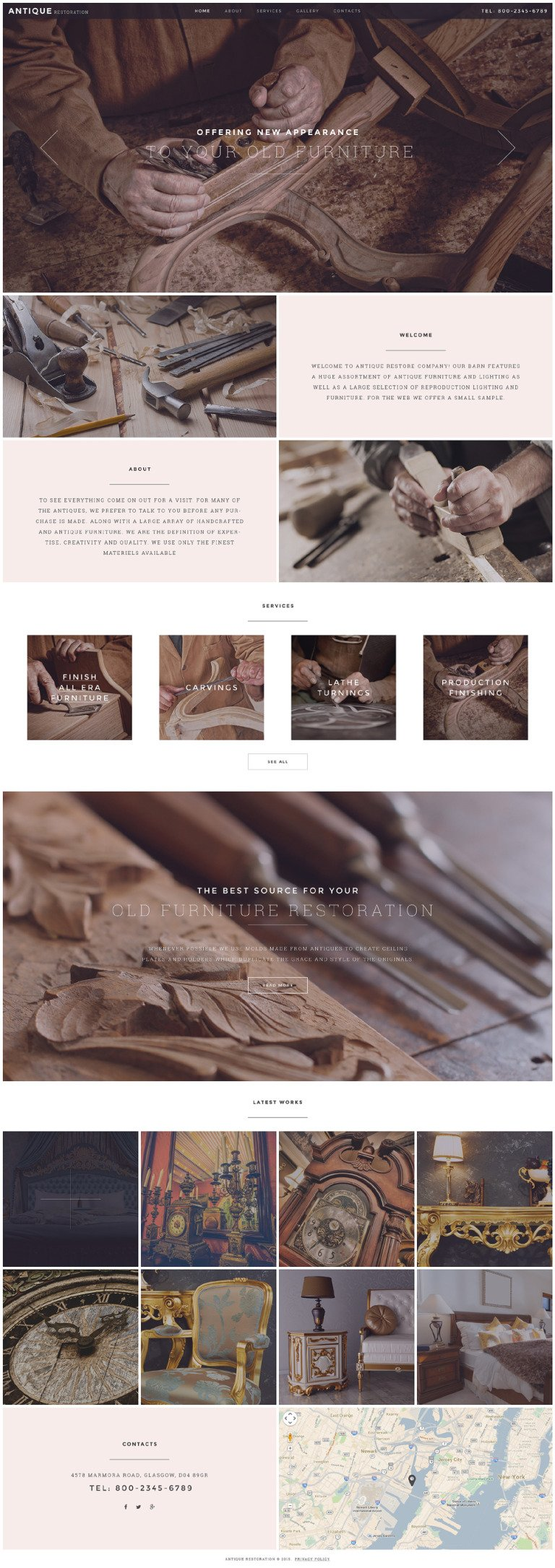 Antique Restoration Website Template New Screenshots BIG