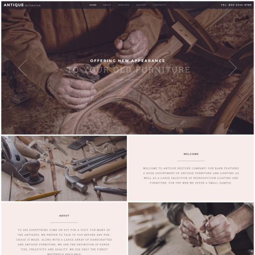 Antique Restoration - Responsive Website Template