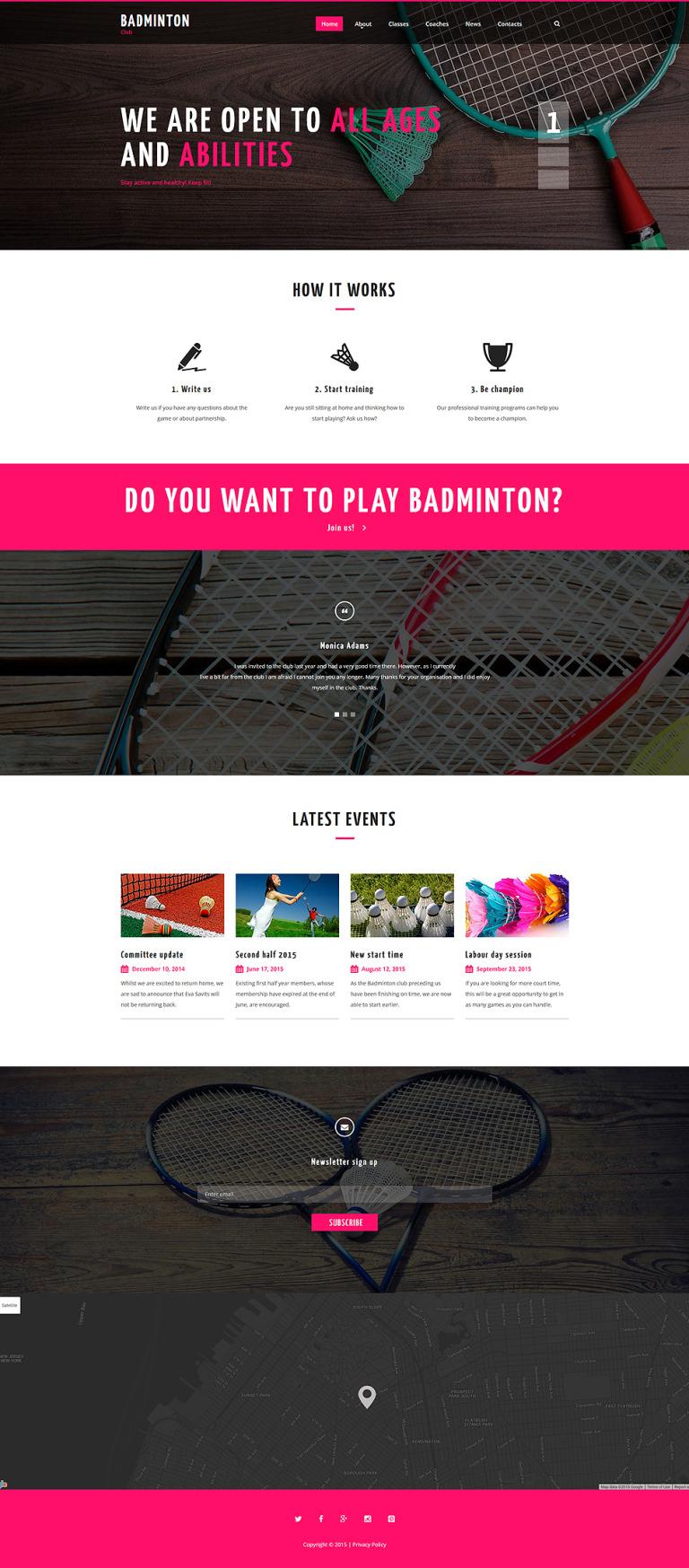 Badminton Club Website Template New Screenshots BIG