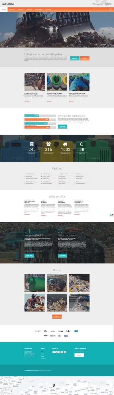 Flexível template Web №55797 para Sites de Industrial