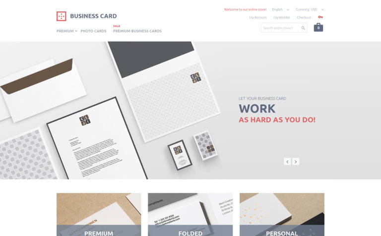 Printing services magento theme business card printing magento theme new screenshots big fbccfo Image collections