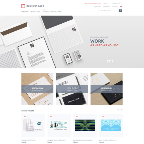 Business Card  - Magento Template based on Bootstrap
