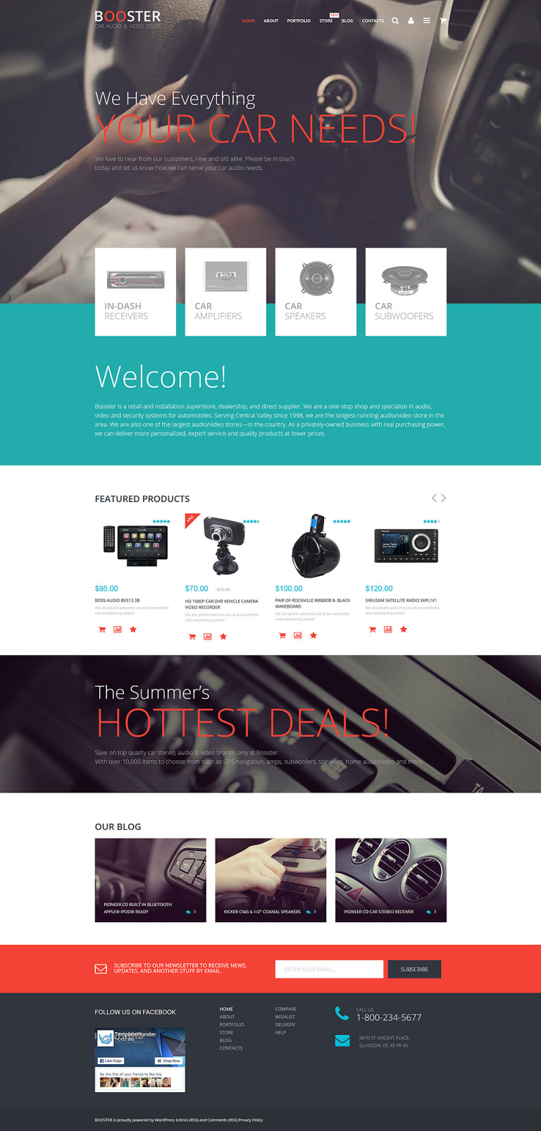 Car Audio Video WooCommerce Theme New Screenshots BIG