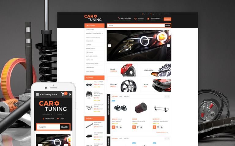 Car Tuning OpenCart Template New Screenshots BIG