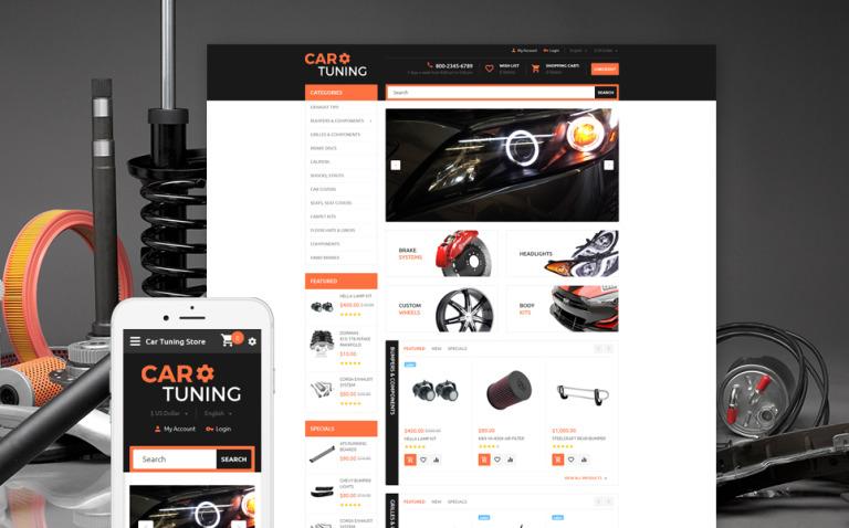 Car Tuning OpenCart Template New Screenshots BIG