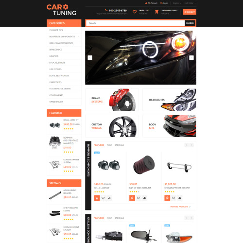 Car Tuning - OpenCart Template based on Bootstrap