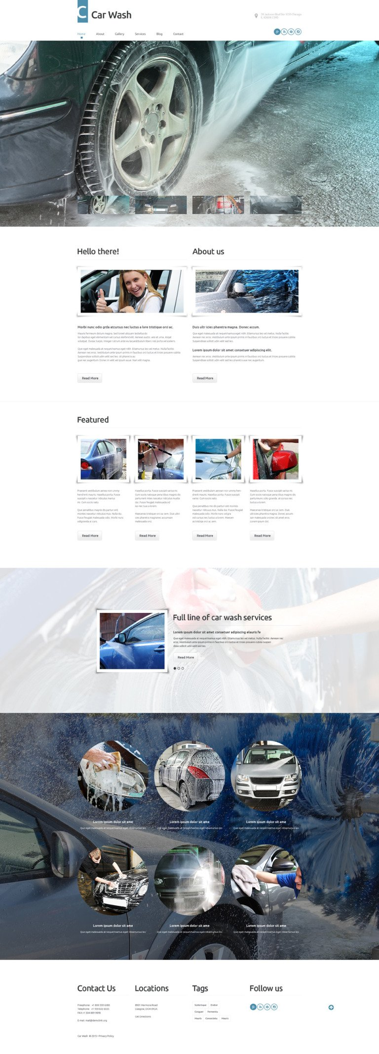 Car Wash WordPress Theme New Screenshots BIG