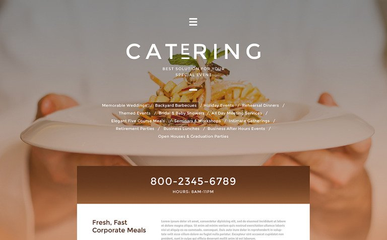 Catering Solutions Website Template