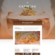 responsive catering website templates