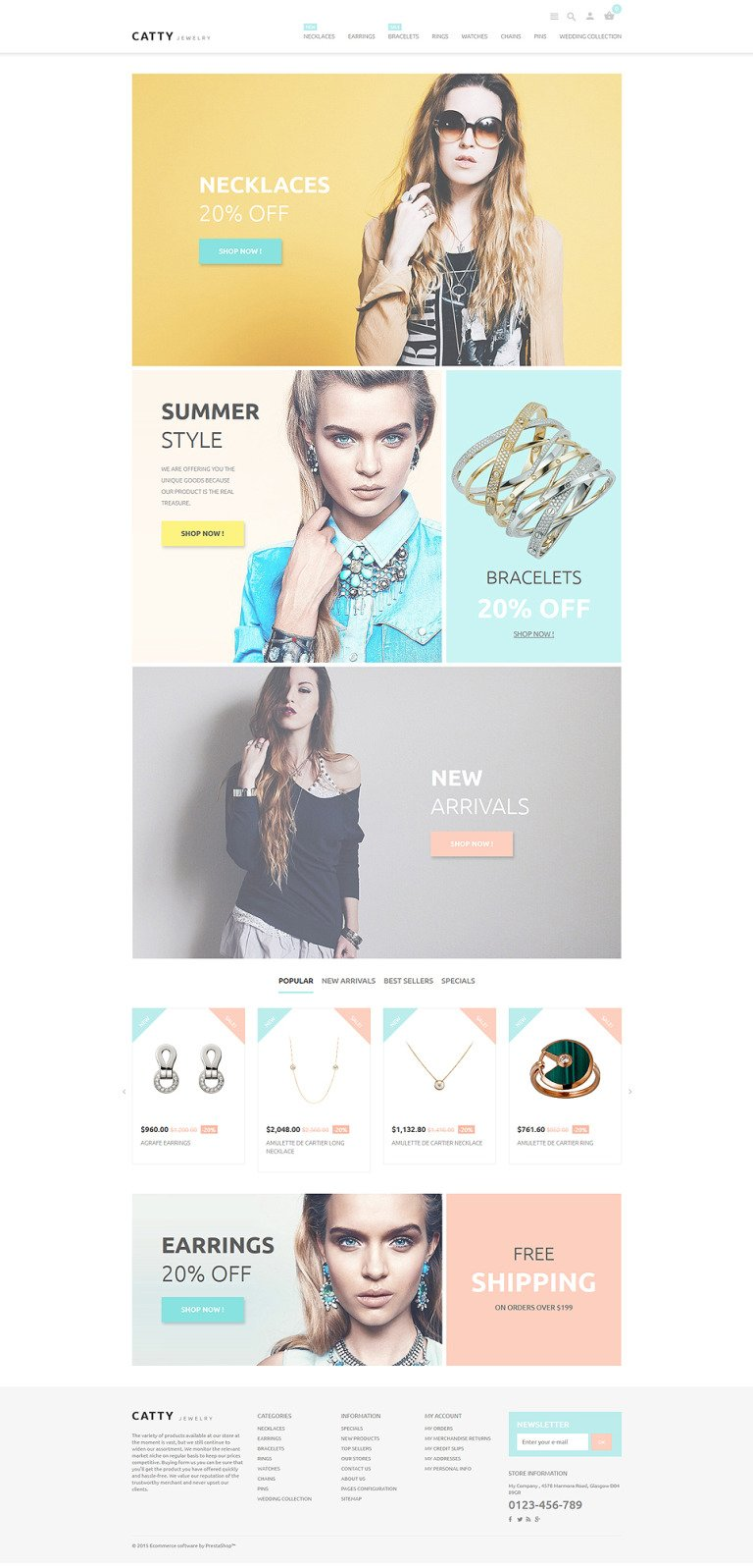 Catty Jewelry PrestaShop Theme New Screenshots BIG