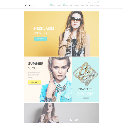Catty Jewelry - PrestaShop Template based on Bootstrap