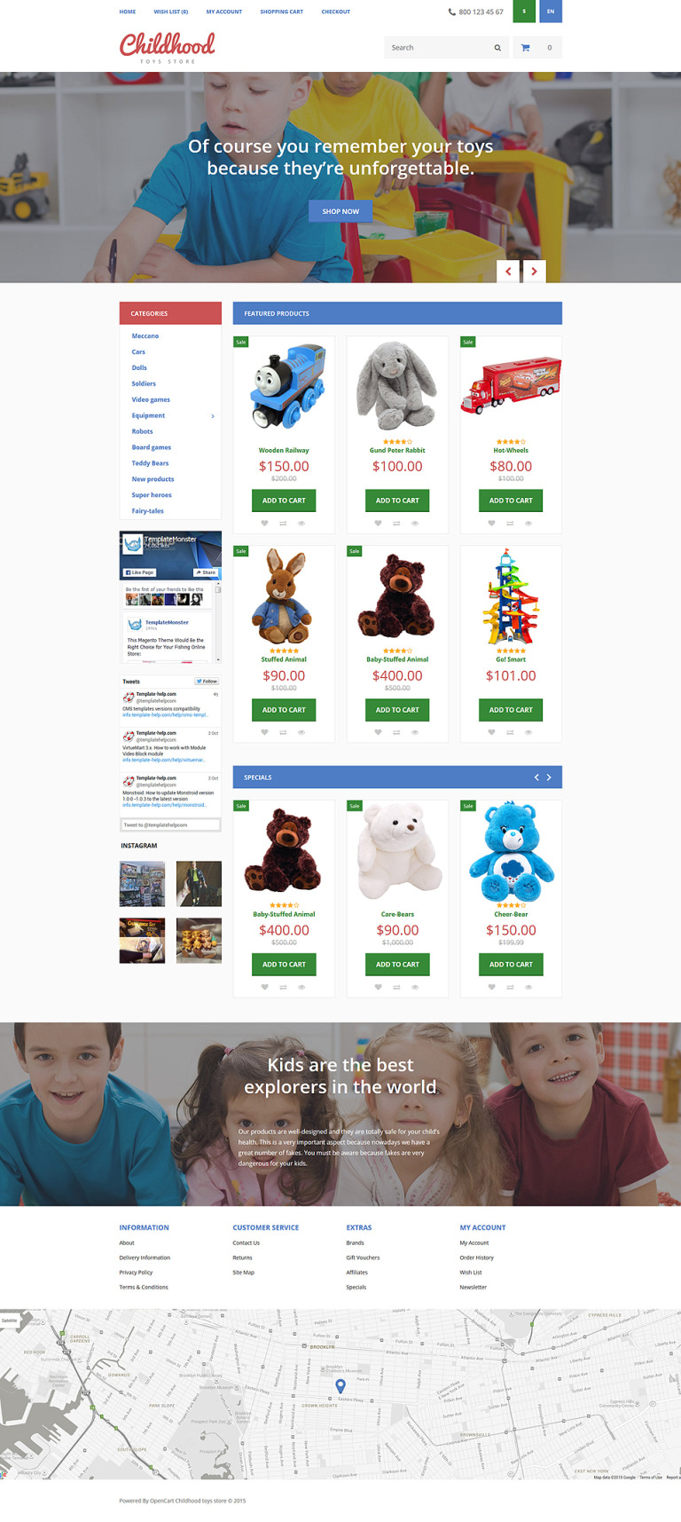 Childhood OpenCart Template New Screenshots BIG