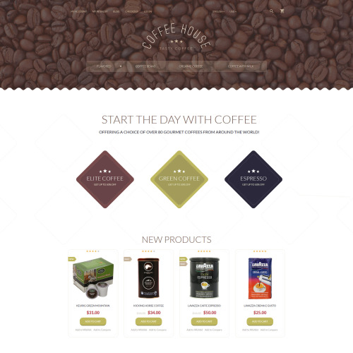 Coffee House - Magento Template based on Bootstrap