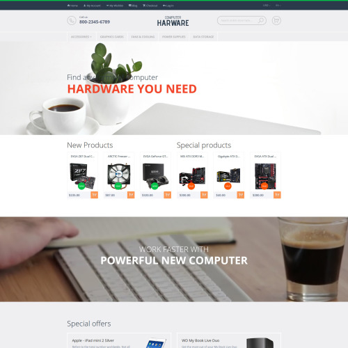 Computer Hardware - Magento Template based on Bootstrap