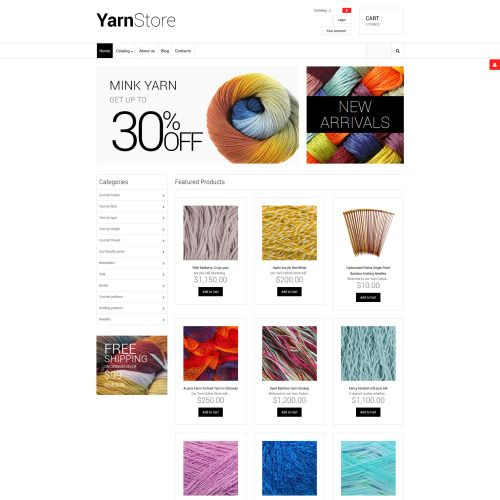 Yarn Store - VirtueMart Template based on Bootstrap
