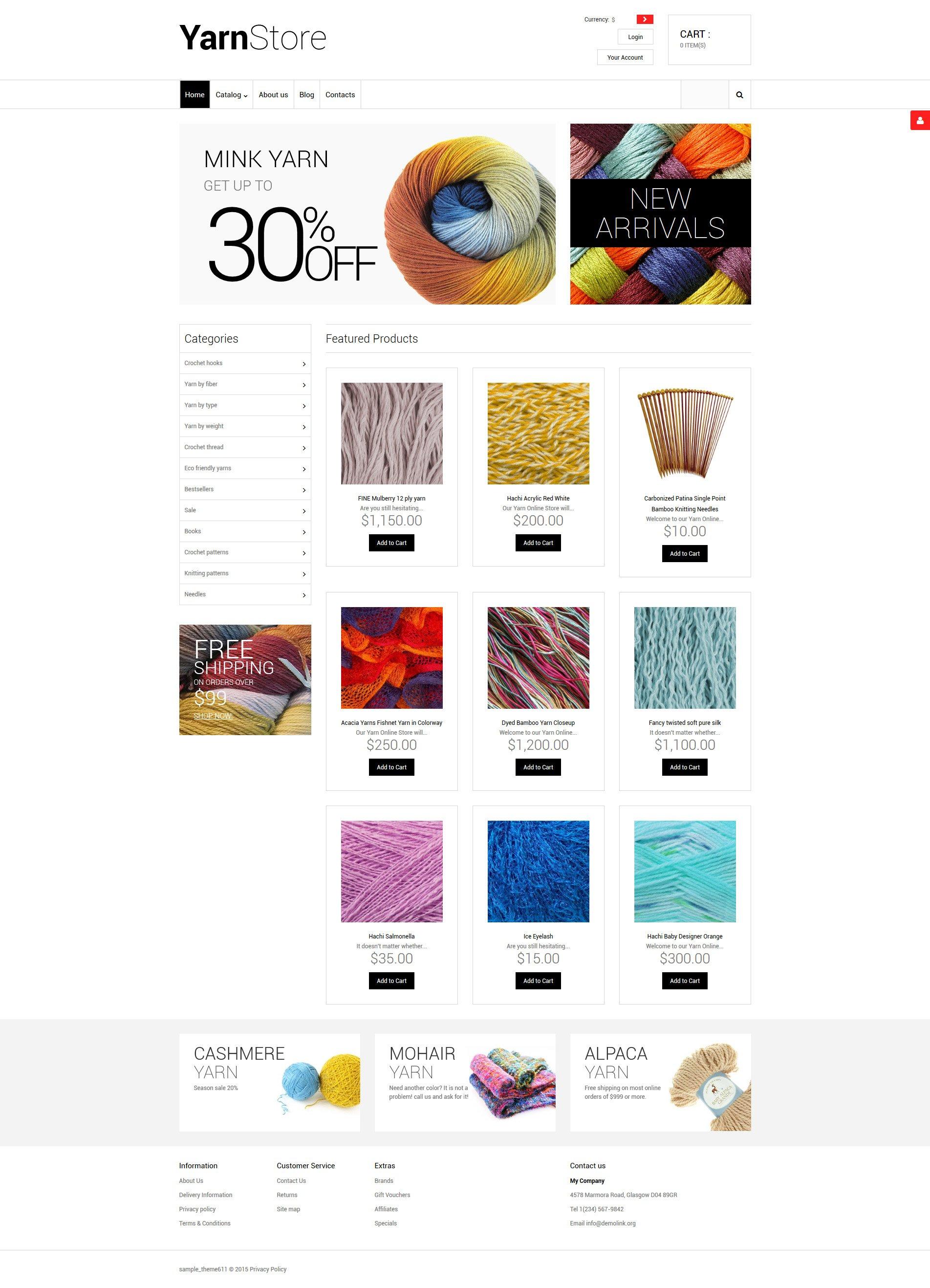 Crafts VirtueMart Template - screenshot