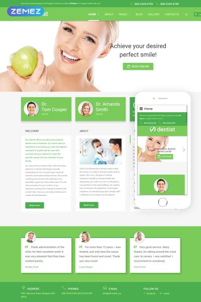 Dentist Joomla Template #55709