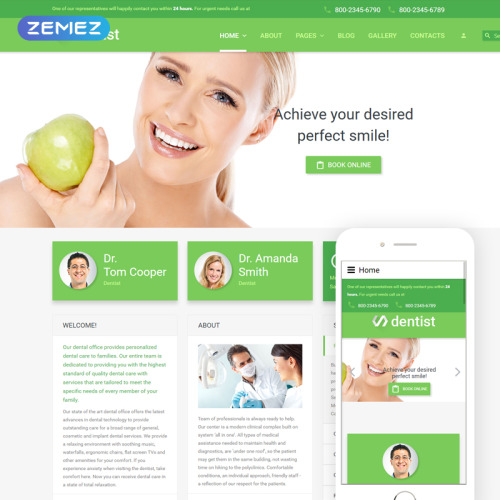 Dentist - Joomla! Template based on Bootstrap