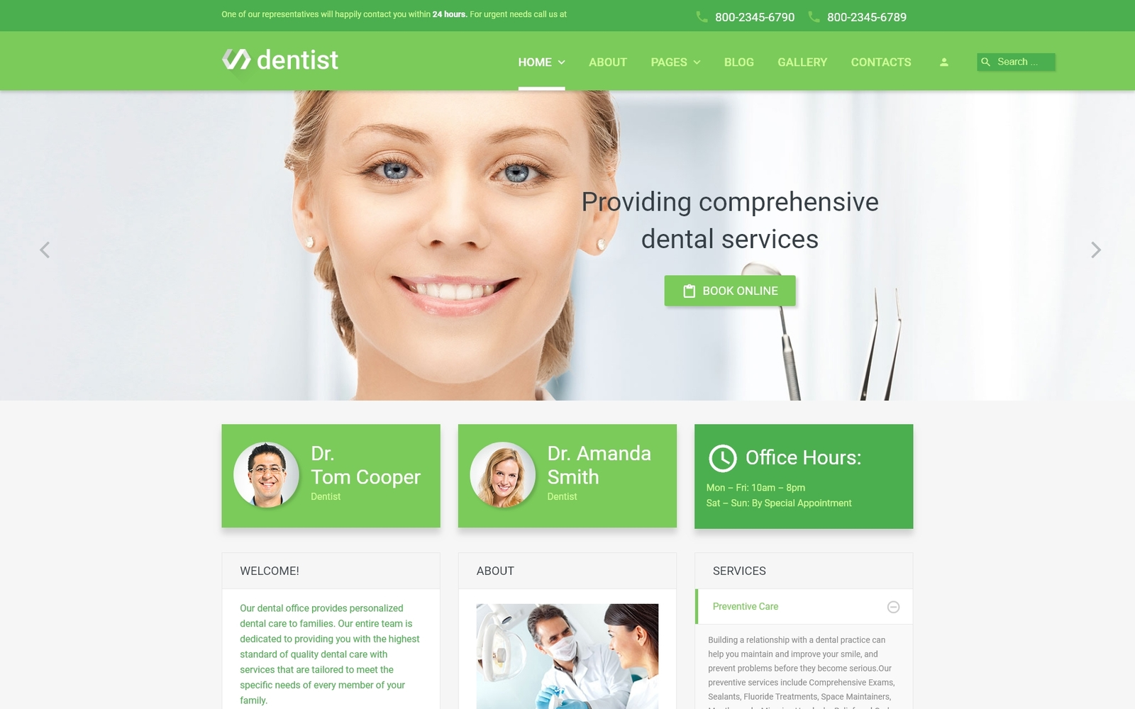 """Dentist"" Responsive Joomla Template №55709"