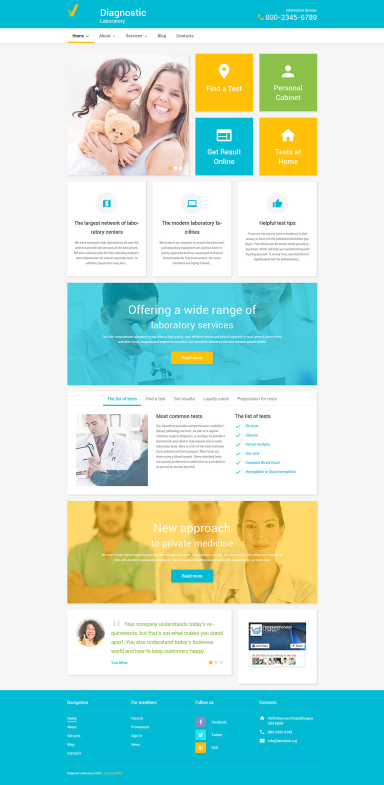 Diagnostic Laboratory WordPress Theme New Screenshots BIG
