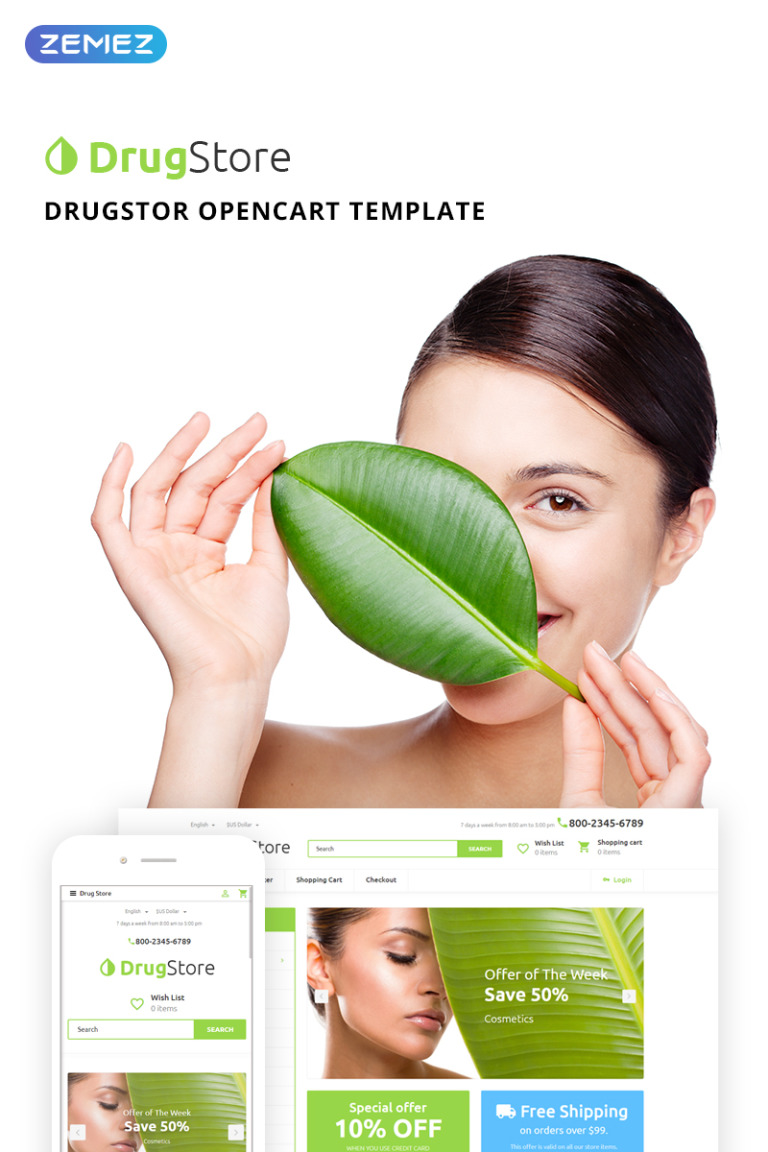 Drugster OpenCart Template New Screenshots BIG