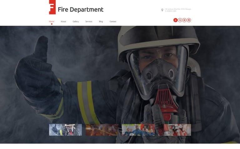 fire department wordpress template