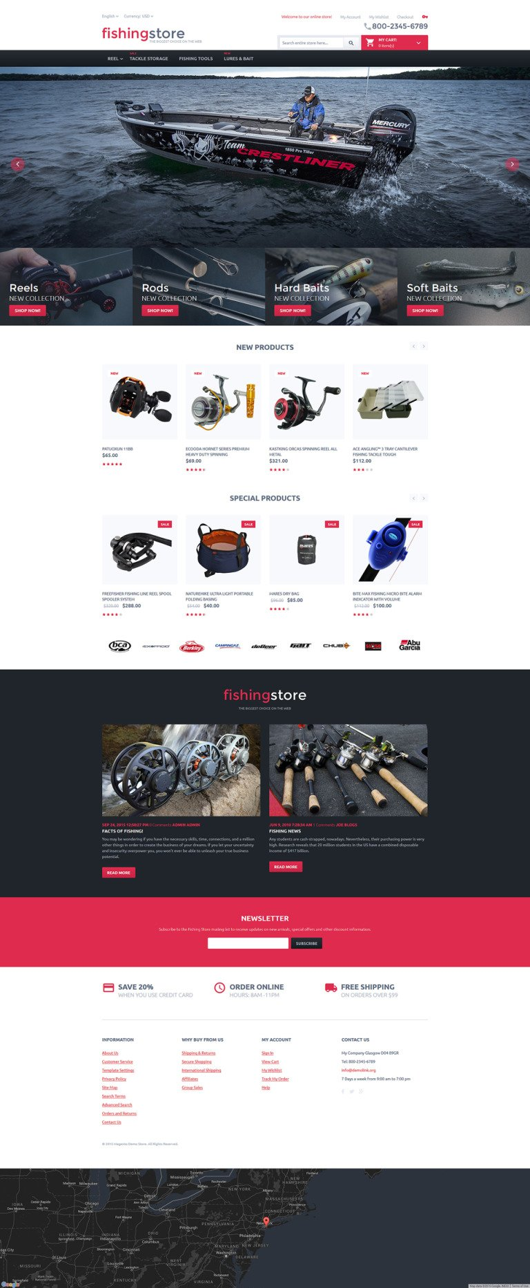 Fishing Store Magento Theme New Screenshots BIG