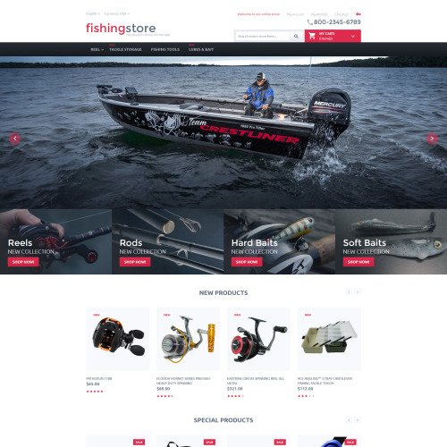 Fishing Store - Magento Template based on Bootstrap