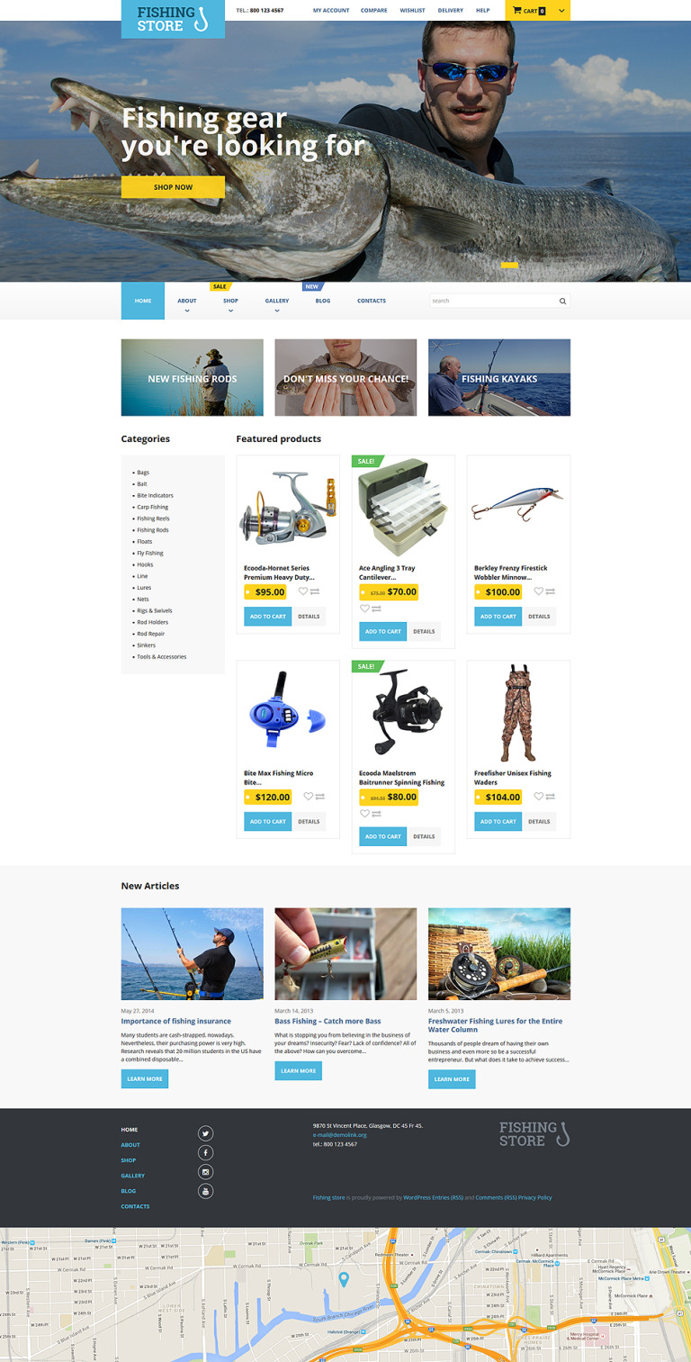 Fishing Store WooCommerce Theme New Screenshots BIG