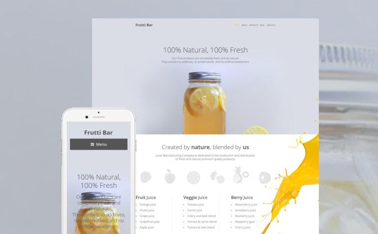 Frutti Bar WordPress Theme