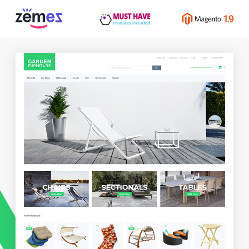 Garden Furniture - Magento Template based on Bootstrap