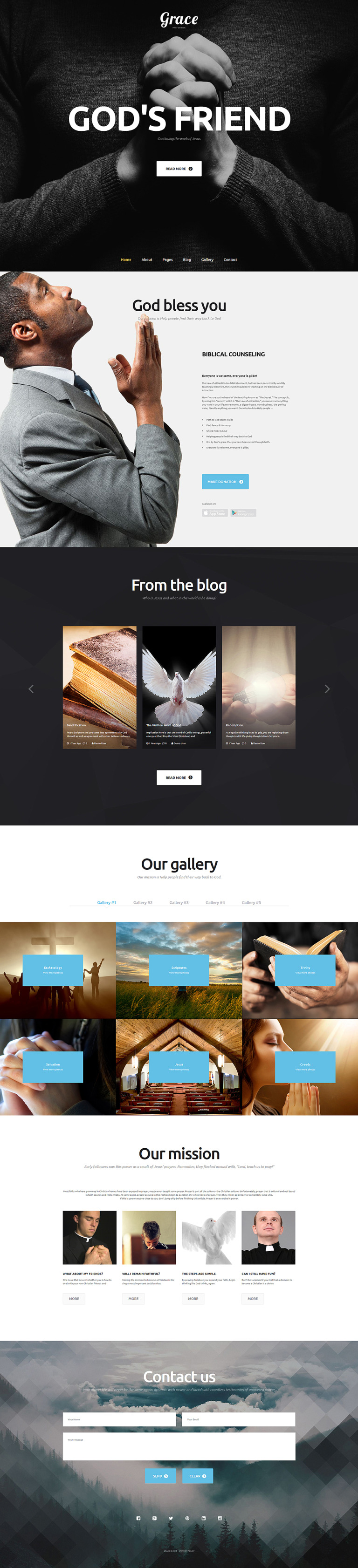 Grace Joomla Template New Screenshots BIG