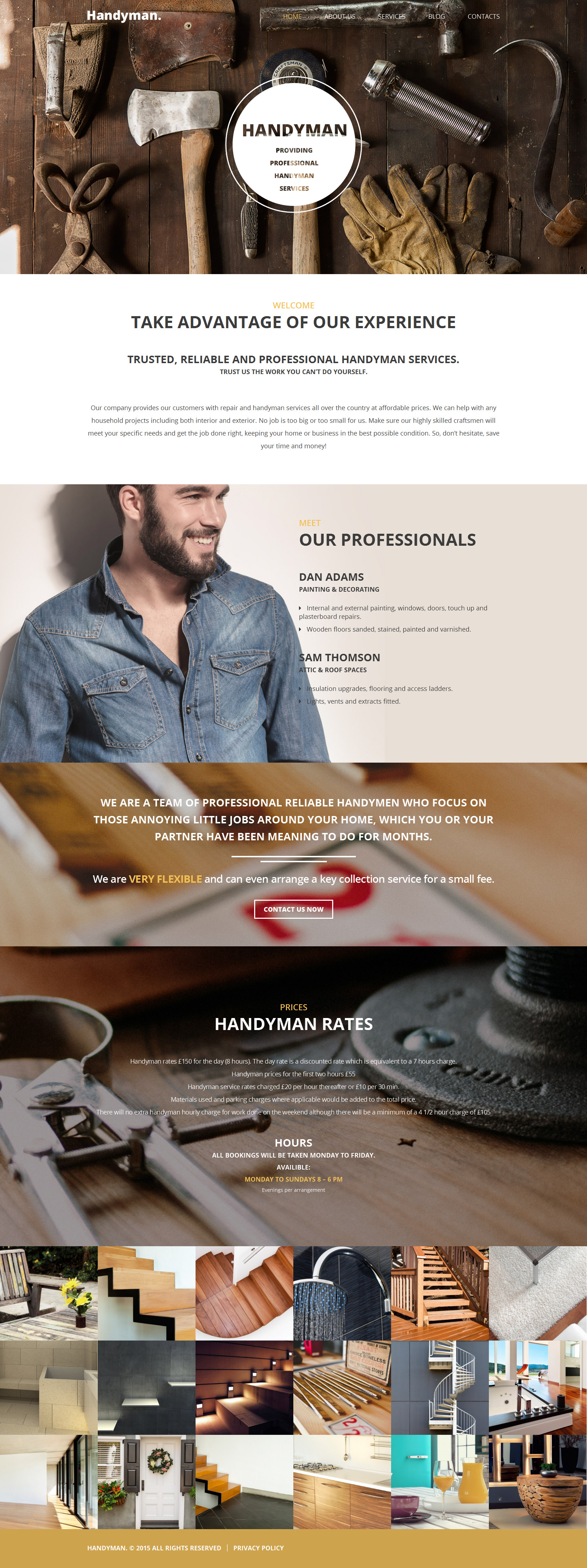 Handyman Tema WordPress №55705