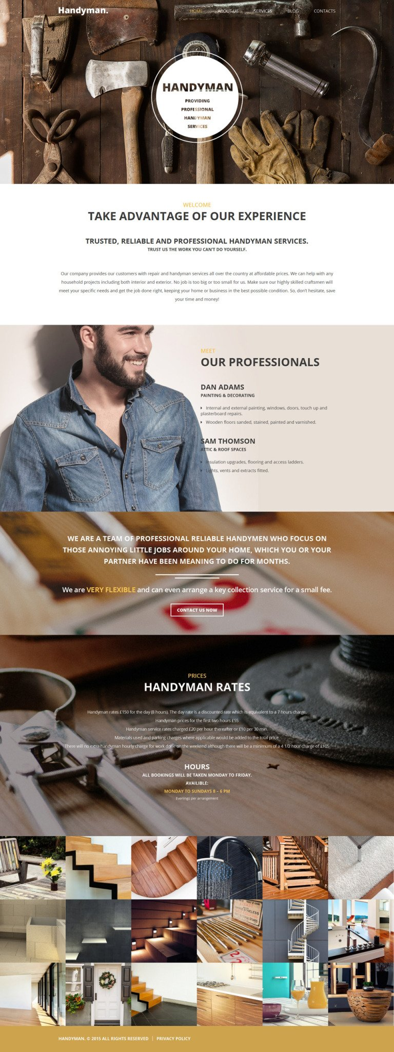 Handyman WordPress Theme New Screenshots BIG