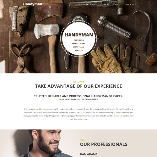 Handyman - WordPress Template based on Bootstrap