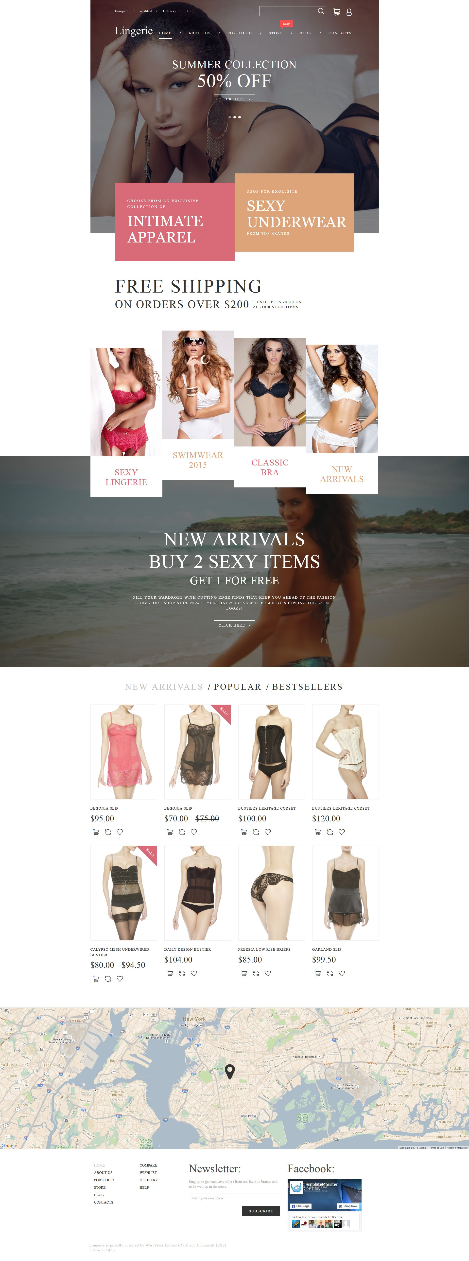 """Intimate Apparel"" Responsive WooCommerce Thema №55739"