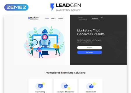 Marketing Agency Multipage HTML5