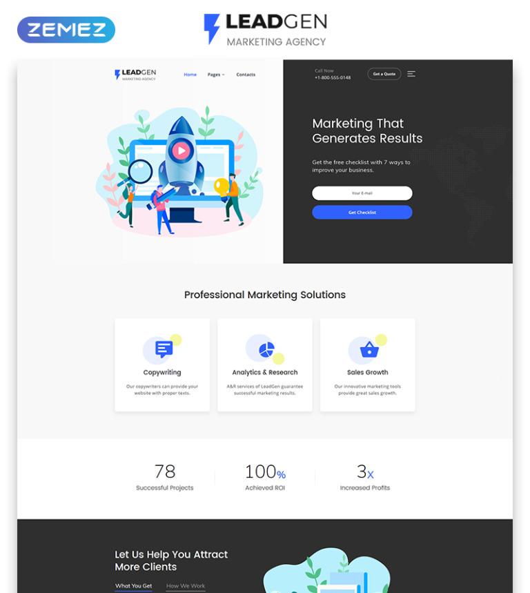 LeadGen - Marketing Agency Multipage HTML5 Website Template