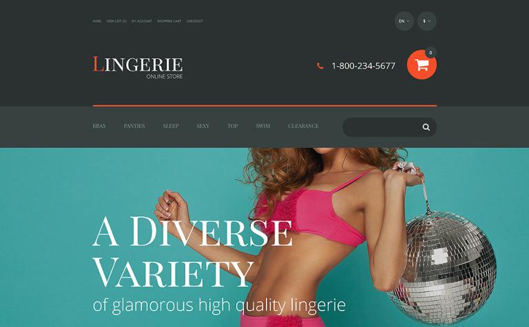 Lingerie OpenCart Template