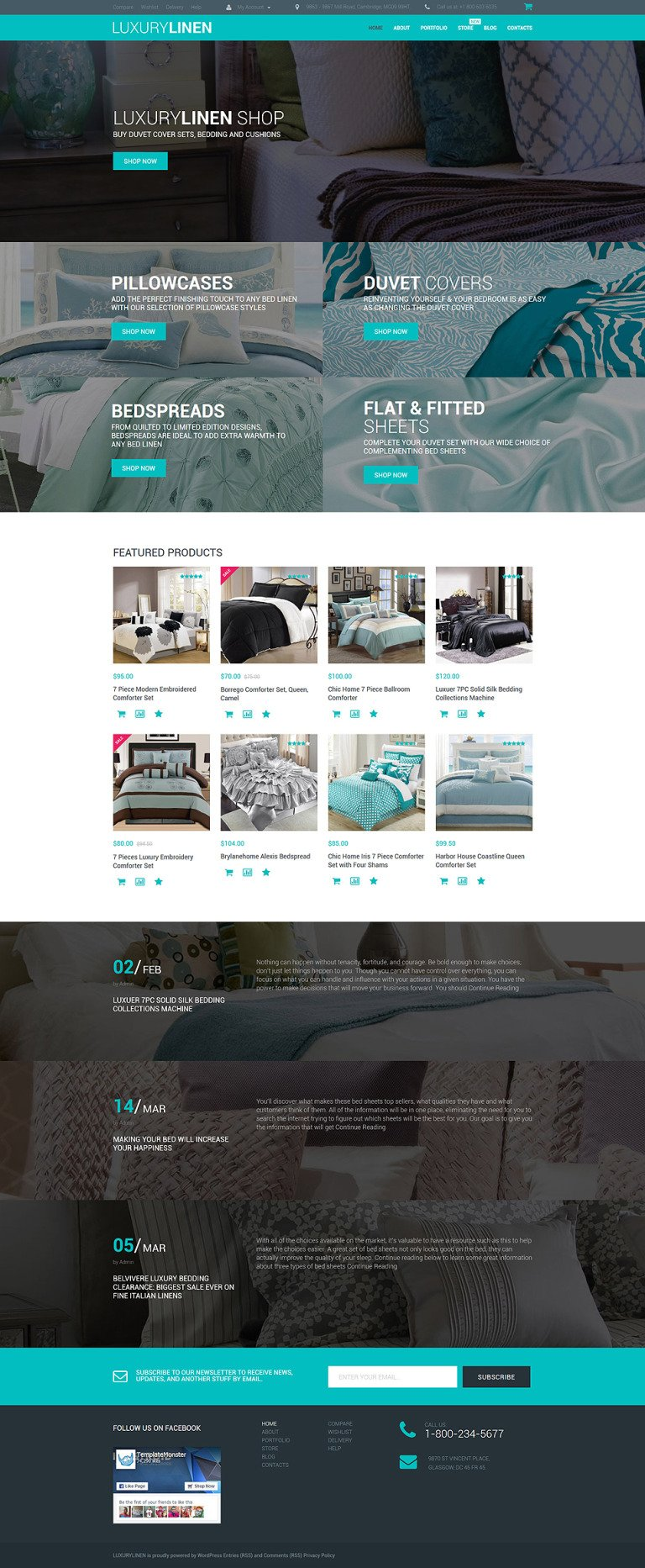 Luxury Linen Store WooCommerce Theme New Screenshots BIG