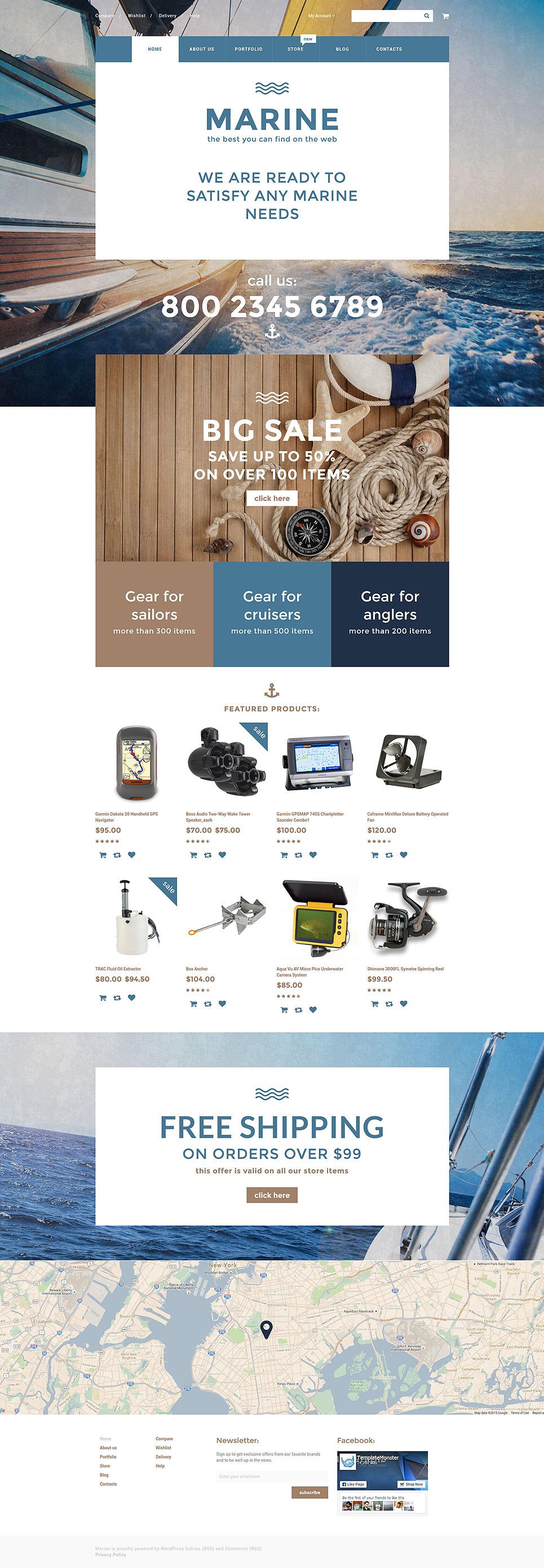 Marine WooCommerce Theme New Screenshots BIG