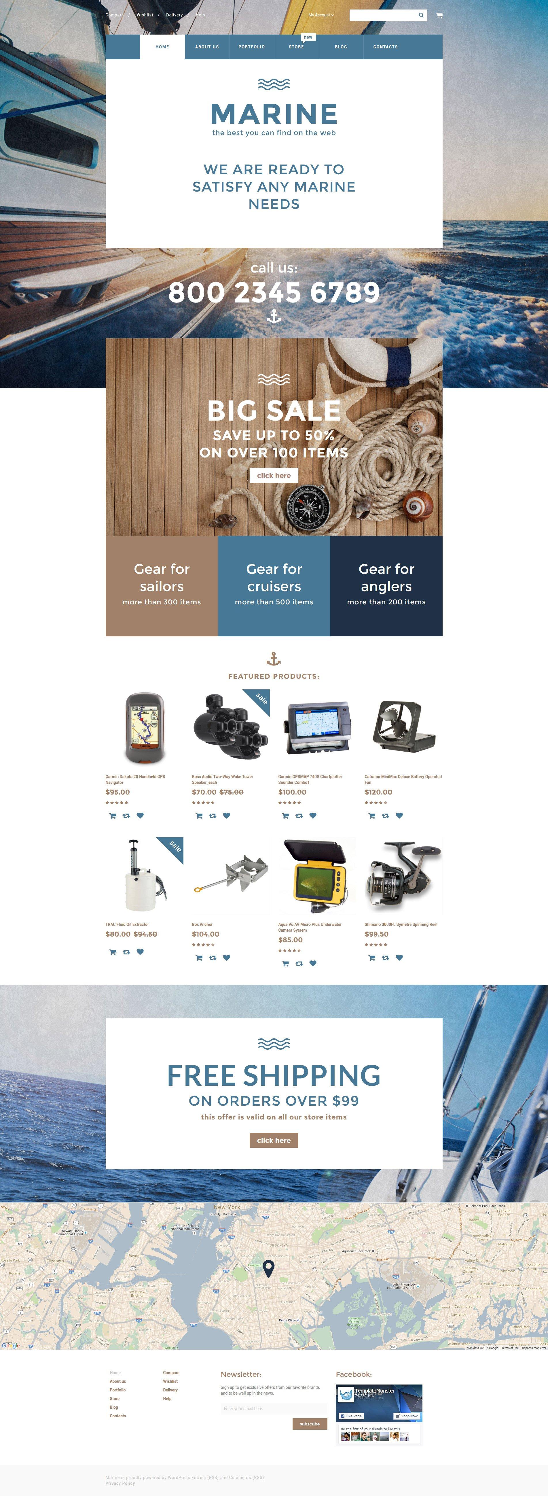 Marine WooCommerce Theme - screenshot