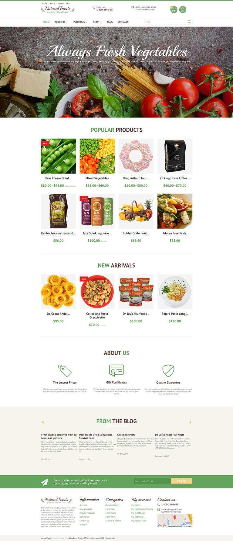 Natural Foods WooCommerce Theme New Screenshots BIG
