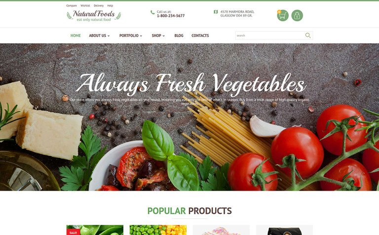 Natural Foods WooCommerce Theme