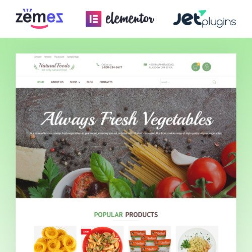 Natural Foods - HTML5 WooCommerce Template