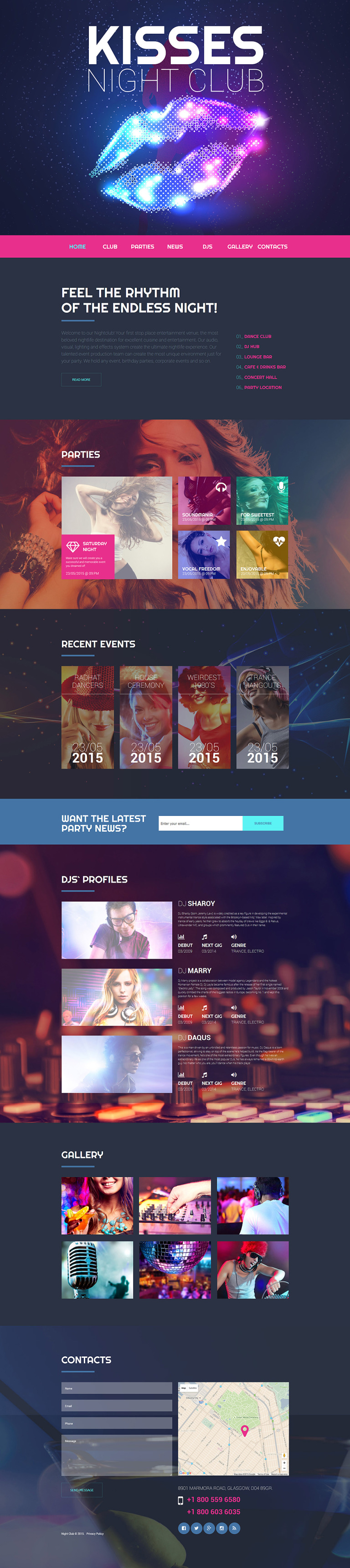Nighttime Entertainment Website Template New Screenshots BIG