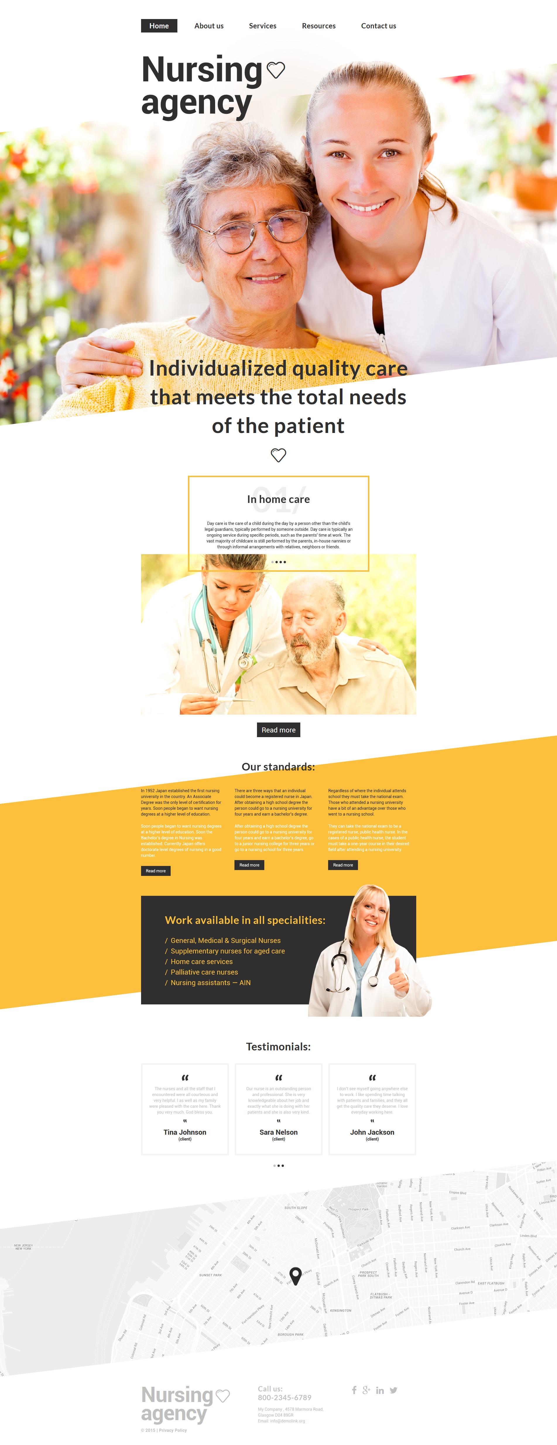 """Nursing Agency"" modèle web adaptatif #55702"