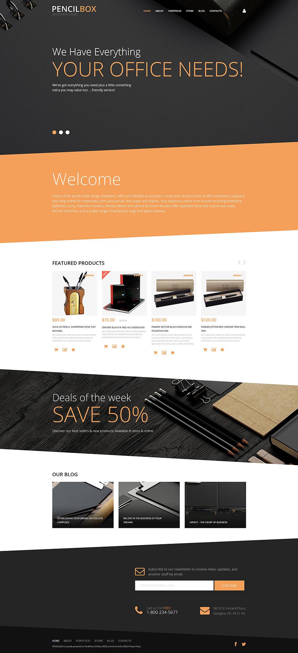 PencilBox WooCommerce Theme New Screenshots BIG