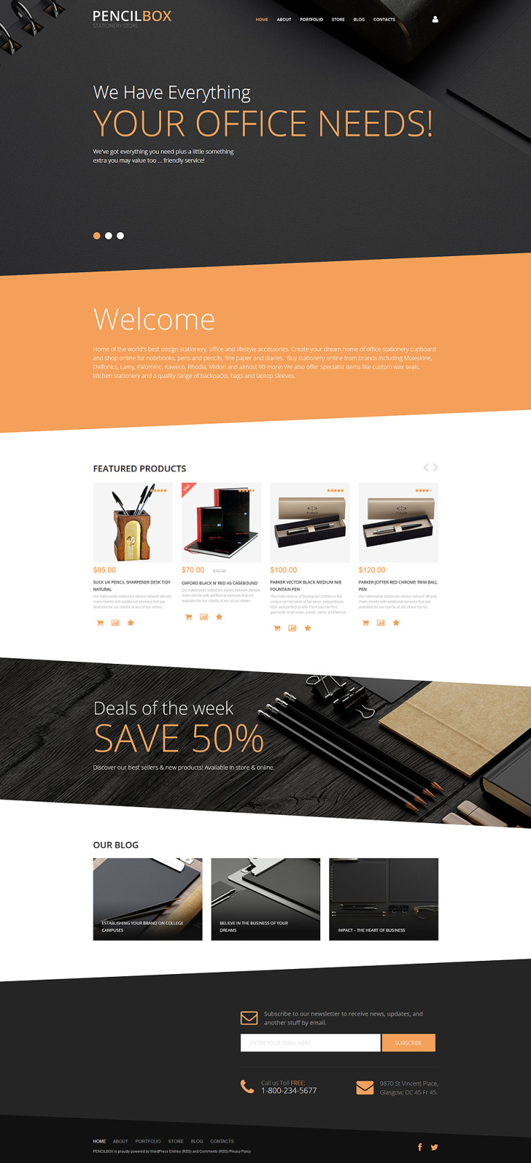 PencilBox WooCommerce Theme New Screenshots BIG