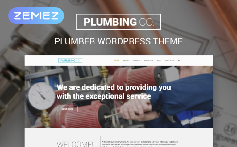 Plumbing Co WordPress Theme